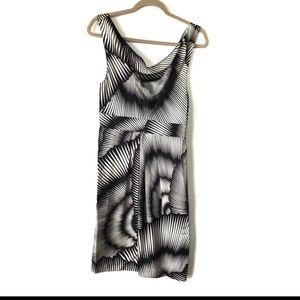 Haven Retro Silk Cowl Neck Dress